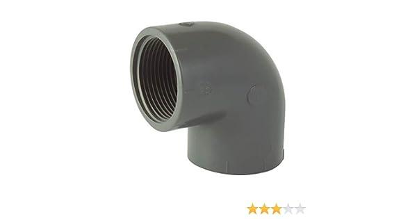 Ezfitt 16mm coude PVC 90/° F//F /à coller