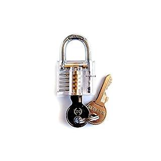 Gfone Robustes transparentes sichtbares Vorhängeschloss mit zwei Schlüsseln Türbeschläge & -schlösser