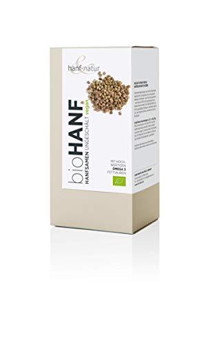 Speisehanf-Samen aus kontrolliert biologischem Anbau, Inhalt 500g, reich an Omega-3-Fettsäuren -
