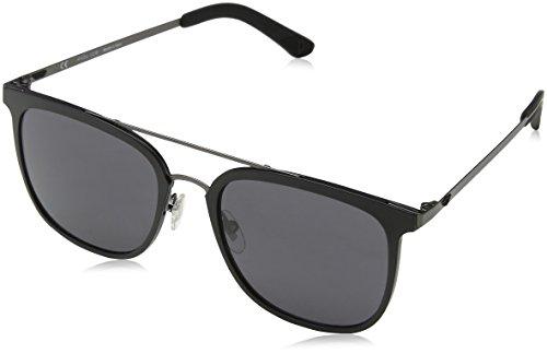 Police edge 6, occhiali da sole uomo, grigio (matt gunmetal), 54