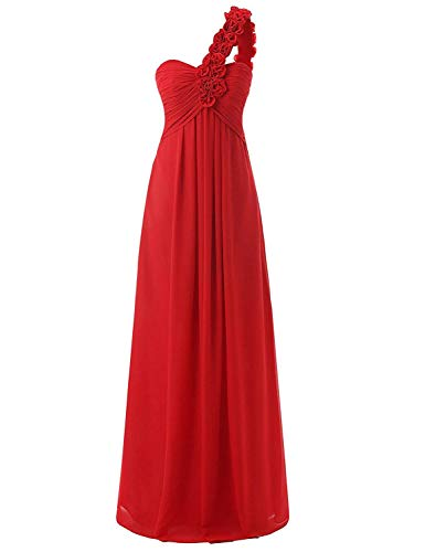 Geshu Women's Formal Long Prom Evening Dresses Sweetheart Chffion Ball Gowns,Yy-red001,Z- XL Formal Dress