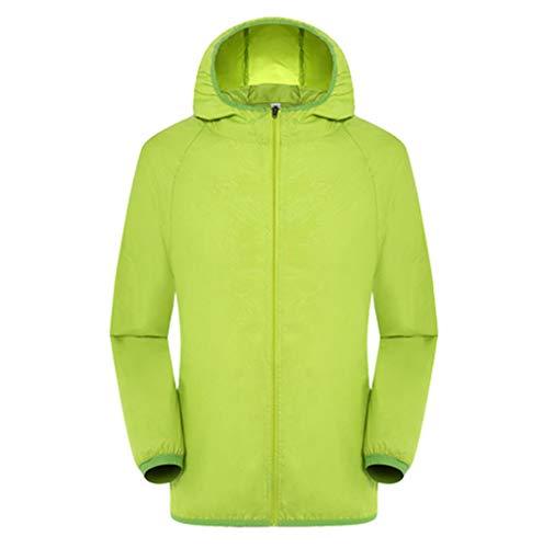 BCFUDA Bluse Unisex Ultra-Light Rainproof Windbreaker Langarm Skin Kapuze Reißverschluss Jacke Mantel Frühlingsjacke Sonnenschutzkleidung Casual Outdoor Coat Jacken Winddicht Top - Ballkleid Light