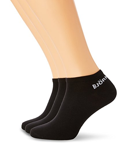 Björn Borg Herren Sneakersocken Low Cuff Step Noos Solids Pack of 3, Schwarz, One size (Herren Unten Knöchel-länge)