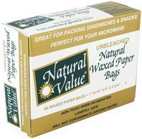 Natural Value Waxed Paper Bags -- 60 Bags by Natural Value BEAUTY (English Manual)