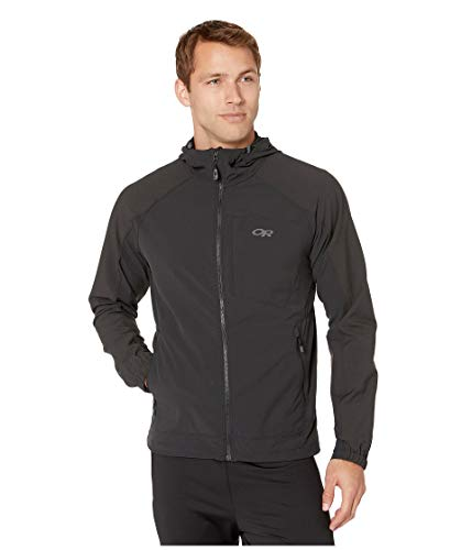 Outdoor Research Men's Ferrosi Hooded Jacket, Black, X-Large - Ripstop Hooded Jacket