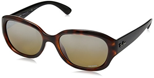 Ray-Ban RAYBAN Damen Sonnenbrille 4282ch Red Havana/Brownmirgreygradientpolar, 55