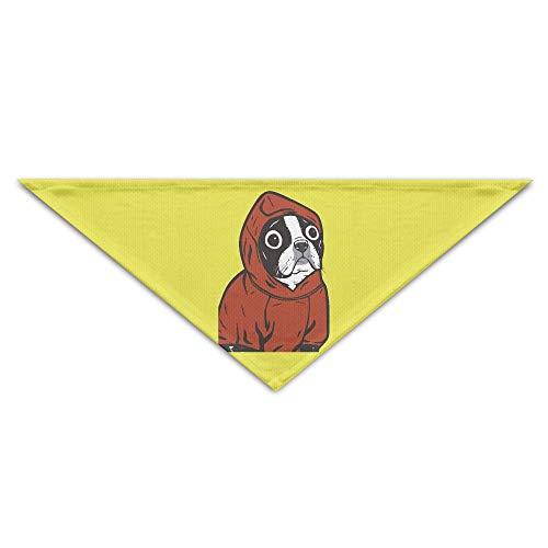 Hectwya Lovely Boston Terrier Red Mehrfarbige Haustierbandanas für Ihren Hund oder Ihre Katze klein bis mittelgroß