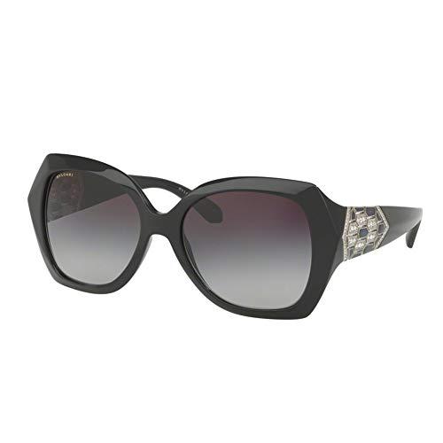 Bulgari Damen 0Bv8182B 901/8G 55 Sonnenbrille, Schwarz (Black/Grey),