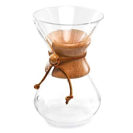 Chemex Cafetière Verre 10 tasses - Poignée Bois - 1,25 L