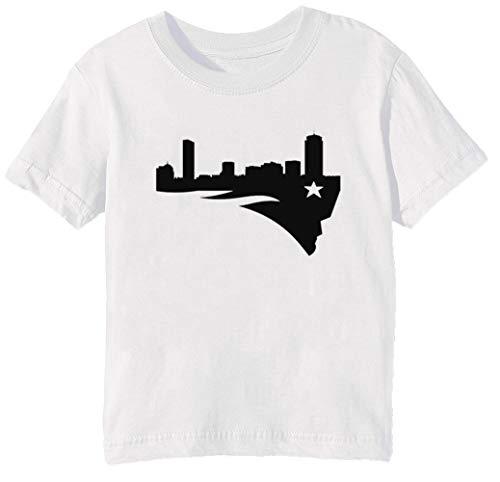 Boston Patriot - Neu England Patriots Kinder Unisex Jungen Mädchen T-Shirt Rundhals Weiß Kurzarm Größe S Kids Boys Girls White T-Shirt Small Size S