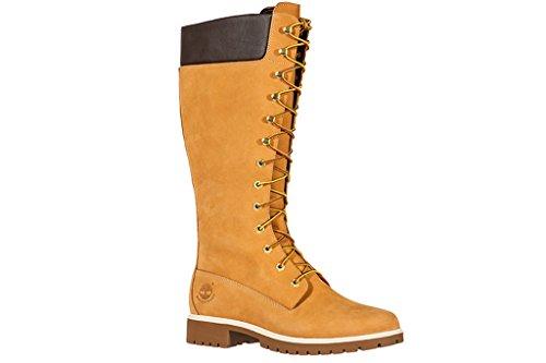 Timberland Damen Stiefel Premium 14 Inch Waterproof beige 39 - Stiefel Damen Timberland Premium