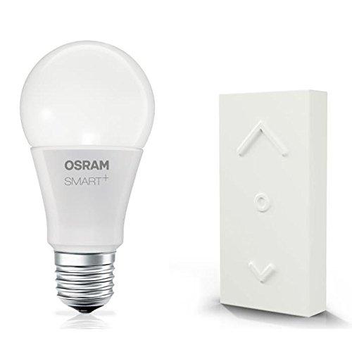 Osram Smart+ ZigBee LED Lampe E27, mit Fernbedienung, Dimmer, warmweiß, ersetzt 60 Watt Glühbirne, Alexa kompatibel (Sicherheits-licht-schalter Programmierbare)