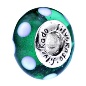 Silverado 'Menthe verte piscines' Morano Verre–SE fixe sur le Pandora Chamilia et bracelet troll