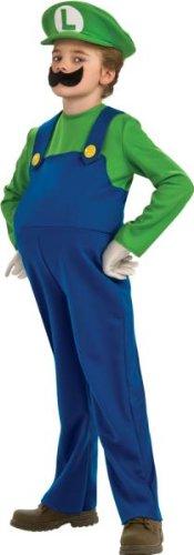 Super Mario Bros. LUIGI Deluxe Kostuem Gr. 146-164 = (Luigi Kind Deluxe Kostüme)