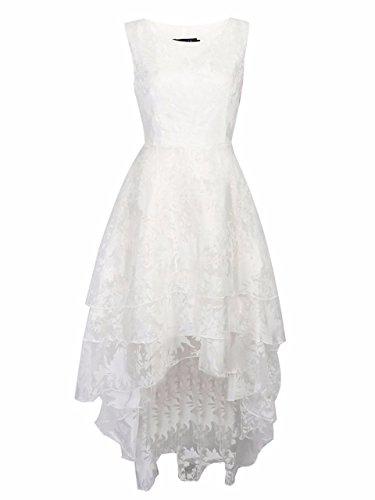 BIUBIU-Damen-Rundhals-Cocktailkleid-Spitze-Ballkleid-Kleid-Partykleid