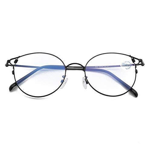 Metal Anti-blue Light Flat Mirror Retro Flat Glasses Frame Cat Ears Myopia Frame C