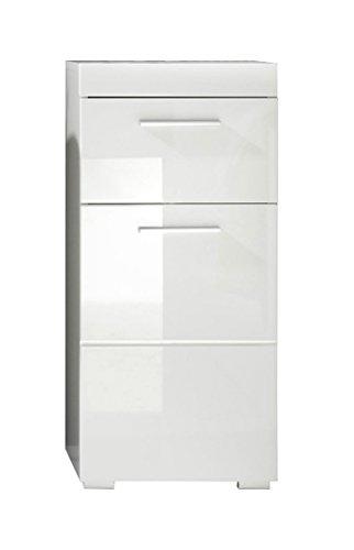 trendteam 1393-802-01 Amanda - Mueble para baño (37 x 79 x 31 cm), diseño satinado, color blanco