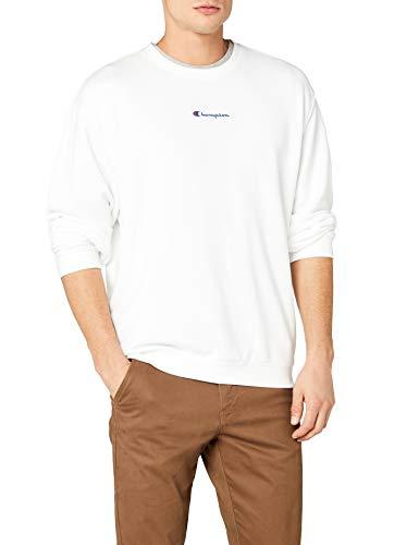Weißes Crewneck Pullover (Champion Herren Crewneck Sweatshirt, Weiß (Wht Ww001), Medium)