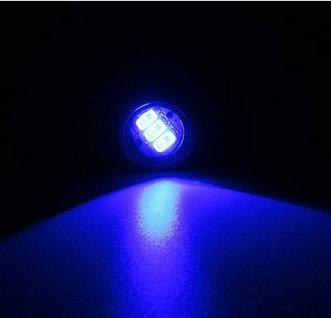 Alamor Paire Moto Led Hawkeye Lumière Constante Miroir Mont Aigle Oeil Feux De Circulation Feux Arrière-Bleu