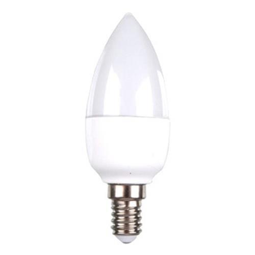 Bombilla LED E14 230V oliva potencia 6 W de luz blanca cálida
