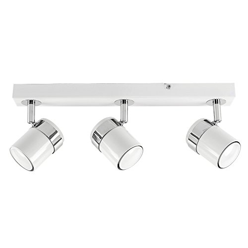 MiniSun - Plafón de techo con 3 focos 'Tresor' - regleta de...
