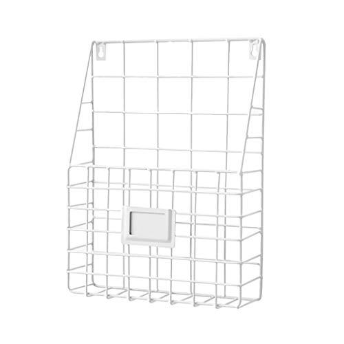 Xshuai Simple Iron Wall-Mounted Hanging Rack Magazine Zeitungsspeicher-Regal-Organisator (Weiß) - Magazin Rack Wall Mounted