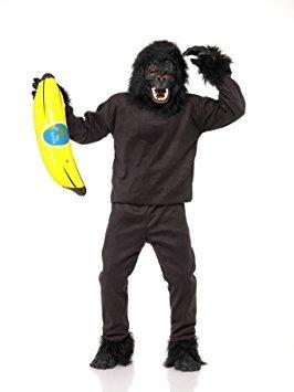 Gorilla Costumes Masque - Déguisement Adulte Animal - Singe Gorille (Costume