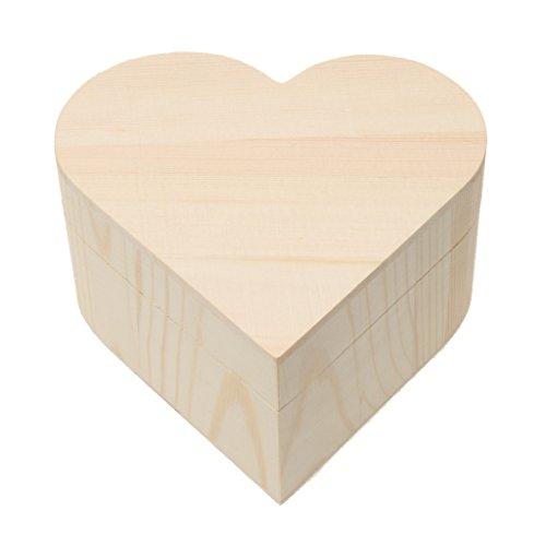 Scatola in legno a forma di cuore