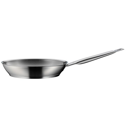 WMF Gourmet Plus Bratpfanne, Ø 28 cm, Pfanne unbeschichtet, Cromargan Edelstahl mattiert, induktionsgeeignet