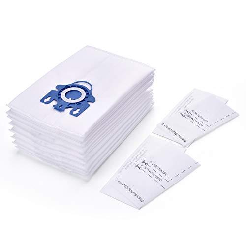 8 Pack Miele Typ GN 3D Vakuumbeutel + 2 Motorfilter für Miele Staubsauger (8Beutel, 2 Filter) ersetzen Teil # 10123210 -