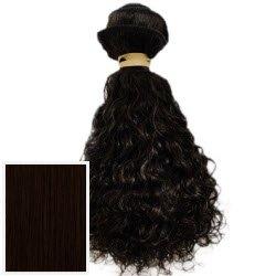 Obsessions Extensions cheveux Extensions de cheveux humains 100% Vierges brésiliens de qualité AAA + bouclés – Couleur # 1B (Noir naturel) – 30,5 cm
