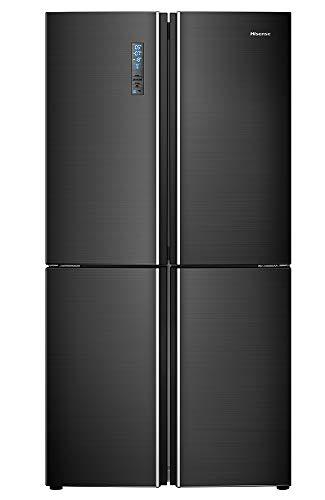 Hisense RQ689N4AF2 Side-by-Side (3-Türer) / A++ / 181 cm / 343 kWh/Jahr / 362 L Kühlteil / 180 Gefrierteil / Schwarz Steel-Look