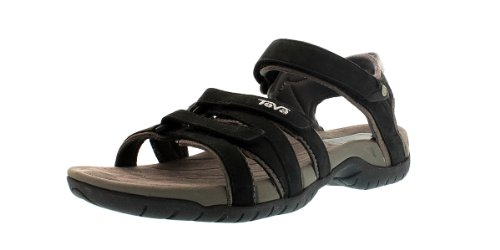Teva Tirra Leather W's Damen Sport- & Outdoor Sandalen, Schwarz (black 513), EU 40