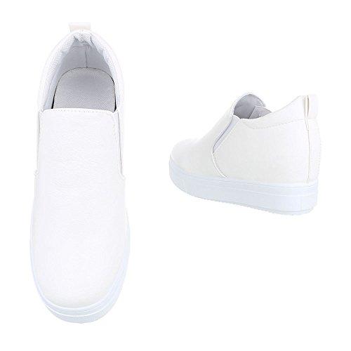 Ital-Design - Pantofole Donna Weiß 6689-Y