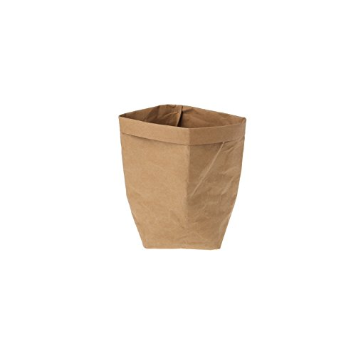 Sac en papier Kraft Shizuhatagayama lavable Multi Fonctions pour plantes et fleurs à pain de stockage de cadeau de fête de mariage, Papier Kraft, marron, 35 cm