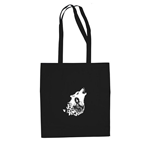 Planet Nerd GoT: Snow Wolf - Stofftasche/Beutel, Farbe: schwarz