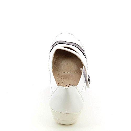 Ballerines babies Grande Taille ultra confortable - Pointure 41 au 44 Blanc