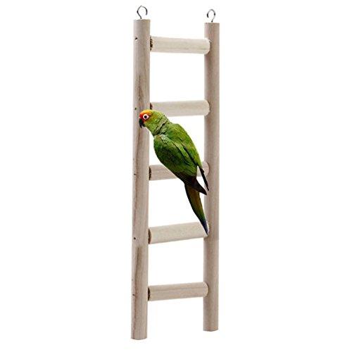 Juguete de madera natural para pájaros, columpio para loros, periquitos, cacatúas, cotorras, tórtolas, pinzones, cacatúas africanas grises