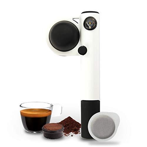 Handpresso-Pump Weiß 48257 Tragbare und manuelle Espressomaschine für ESE-Pads oder gemahlenen Kaffee