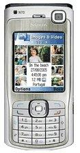 Nokia N70 silver, black UMTS Handy