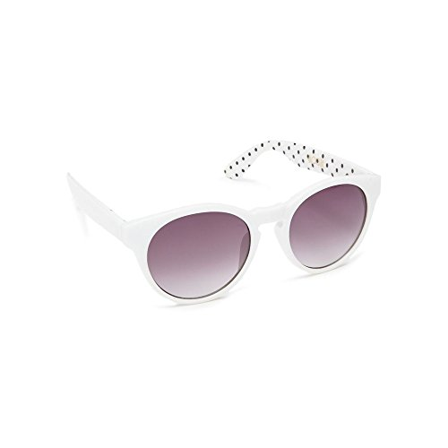 floozie-by-frost-french-womens-white-spotted-print-round-cat-eye-sunglasses