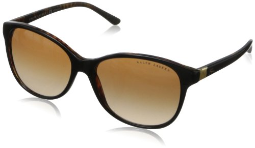 Ralph Lauren Damen RL 8116 Deco Evo Cateye Sonnenbrille, 526013, Top Black Havana, Brown Grad