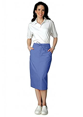 Adar Universal Mid-Calf Length Drawstring Skirt (Available is 17 colors) - 707 - Ceil Blue - Size