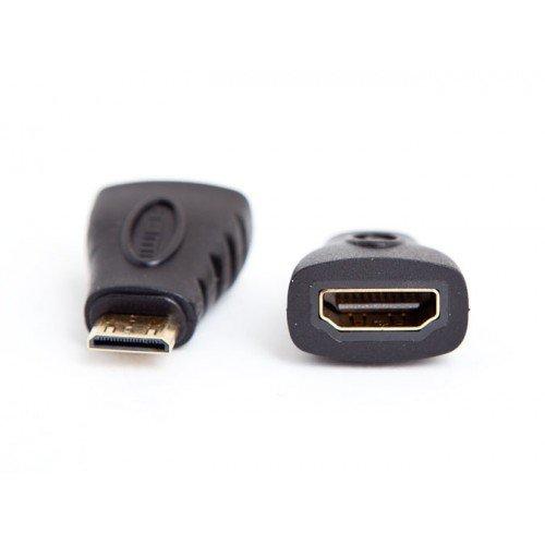 PTron MINHDMFA Gold Mini HDMI Male to HDMI Female Adapter Converter Plug Type A to C (Black)
