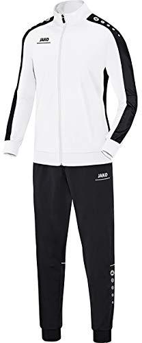 JAKO Kinder Striker Trainingsanzug Polyester, weiß/Schwarz, 128