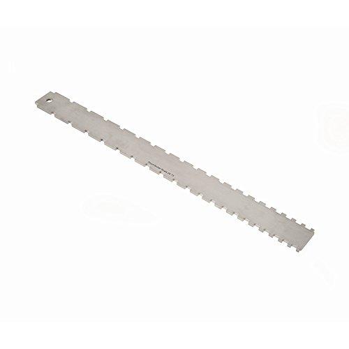 Fafeims Lineal-Satz für gerade Kanten, Lineal für Saitenmessung Lineal für gerade Kanten aus Edelstahl für Gitarrenhals mit gekerbter Saitenaktion Messwerkzeuge