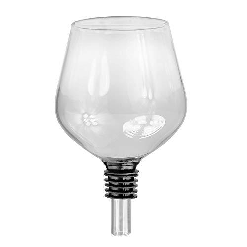 Monsterzeug Glas Flaschenaufsatz, Weinglas Scherzartikel, Aufsatz für Weinflasche, Ausgießer mit Silikondichtung