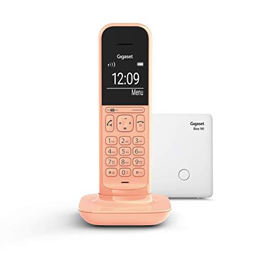 Gigaset CL390 schnurloses Design-Telefon ohne Anrufbeantworter (DECT Telefon mit Freisprechfunktion, großem Grafik Display, leicht zu bedienen mit intuitiver Menüführung) cantaloupe