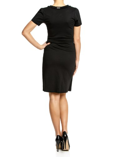 Vive Maria Damen Kleid (knielang) 30275 Belle De Jour Wrapdress Schwarz (Black)