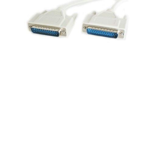 1,5 M - 25 Way RS232 Verlängerungskabel Stecker gerade - polige serielle Schnittstelle DB25 -